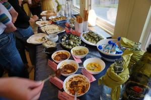 Mingelmat med smaker från olika delar av världen